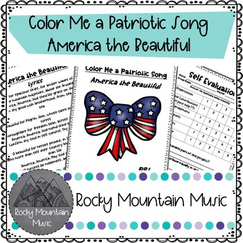 Color Me a Patriotic Song America the Beautiful