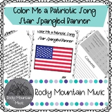 Color Me a Patriotic Song Star Spangled Banenr