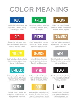 Color Meaning Poster
