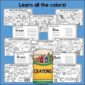 Color Mini Book Bundle: Colors of the Week Bundle