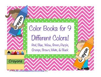 Color Mini Books Set of 9