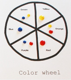 Color Mixing Pizza Activity