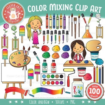 Color Mixing Clip Art – Color Theory