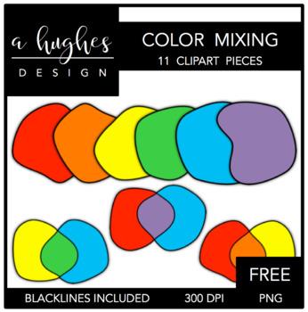 FREE Color Mixing Clipart {A Hughes Design}