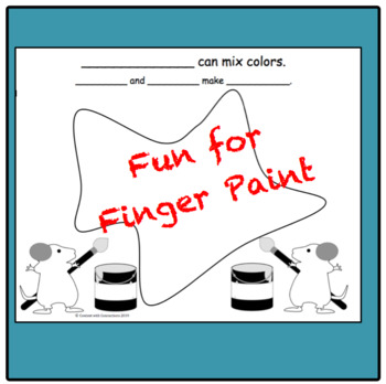 Color Mixing Lesson & Clip Art: activities inspired by Mouse Paint