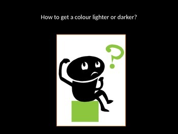 Color Mixing - Lighter and Darker