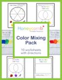 Color Mixing Pack for Preschool, PreK, Kindergarten and Ho