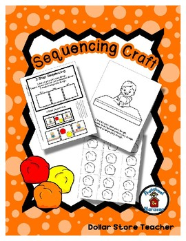 Color Mixing Play Dough - Orange - Sequencing Reader Mat & Craft Page