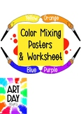 Color Mixing Posters & Worksheet