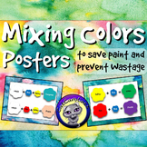 Color Mixing Posters to Save Paint and Prevent Wastage