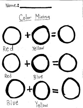 color mixing worksheet by mix it up art teachers pay teachers. Black Bedroom Furniture Sets. Home Design Ideas