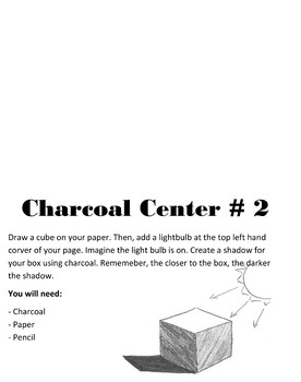Color Mixing and Charcoal Intro Centers