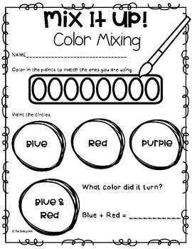 Color Mixing with Paint (Color Words)