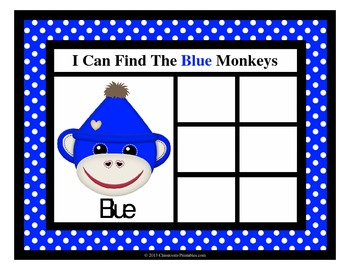 Color Monkeys Sorting Mats