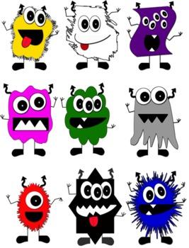 Color Monster Clip Art Freebie