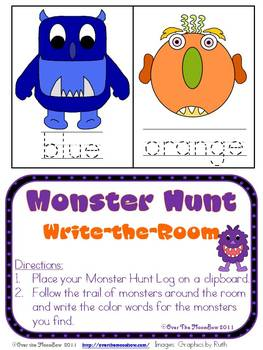 Color Monster Hunt ~ Write the Room