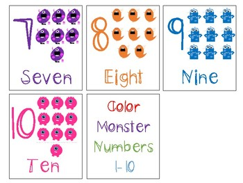 Color Monster Numbers