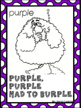 Color Monster Posters with Catchy Rhymes for Preschool- Kindergarten