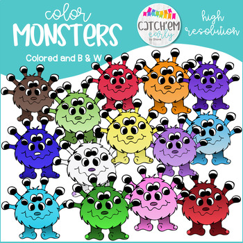 Color Mosters Clip Art