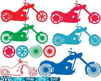 Color Motorbike Monogram Cutting Files SVG Motorcycle motor sport t-shirt 305s