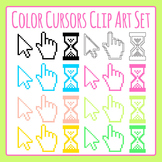 Color Mouse Cursors / Pointers Clip Art Set for Commercial Use