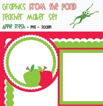 Apple Fresh - Teacher Maker Clipart Set
