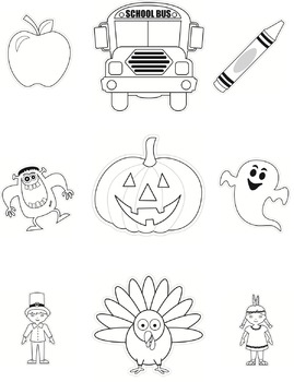 Color My Classroom Cut Outs Autumn Bundle