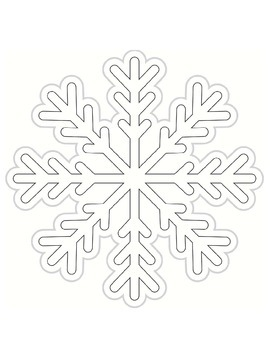 Color My Classroom Snowflakes Cut Outs