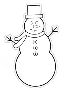 Color My Classroom Snowman Cut Outs