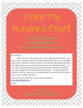 Number Sense: Color My Hundred Chart
