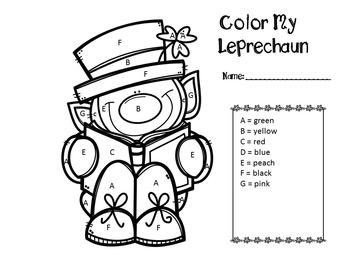 Color My Leprechaun Freebie