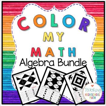 Color My Math Algebra Bundle