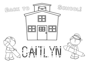FREE! Color My Name - Back to School