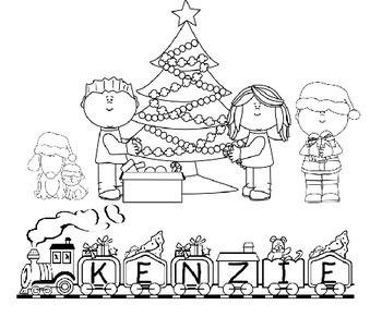 FREE! Color My Name - Christmas 1