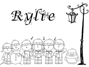 FREE! Color My Name - Christmas 3