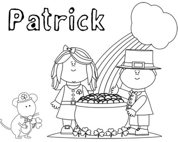FREE! Color My Name - St. Patrick's Day