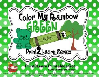 Color My Rainbow GREEN {Print2Learn Color Series}