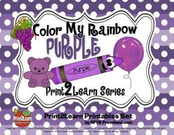 Color My Rainbow PURPLE {Print2Learn Color Series}
