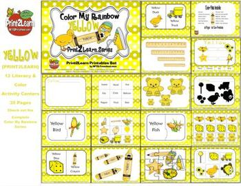 Color My Rainbow YELLOW {Print2Learn Color Series}