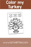 Color My Turkey Printable Activity