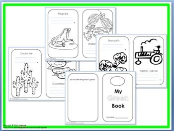 Color My World Activity Packet- GREEN