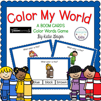 Color My World BOOM CARDS Color Words