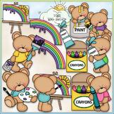 Color My World Bears Clip Art - Art Clip Art, Painting - C