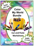 Color Theme BUNDLE Special Education & Kindergarten Math and Literacy Worksheets