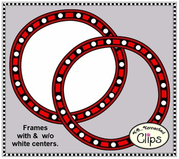 Color My World - Circle and Rectangle Frames - Clip Art