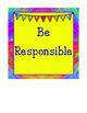 Color My World Positive Classroom Expectation Cards