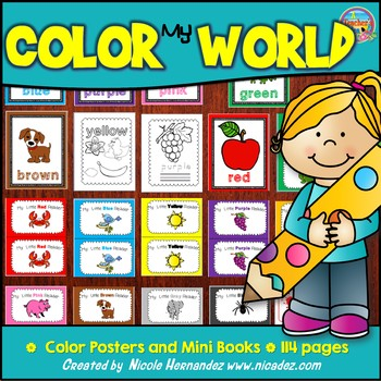 Color My World Posters and Mini book for Every Color