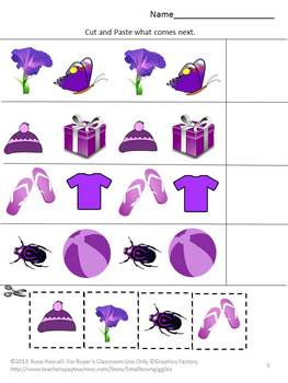 Color Recognition Purple Special Education Kindergarten Preschool Autism