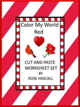 Color Recognition Red Special Education Kindergarten Preschool Cut and Paste