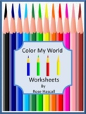 Colors Kindergarten Special Education Early Childhood Cut and Paste Fine Motor